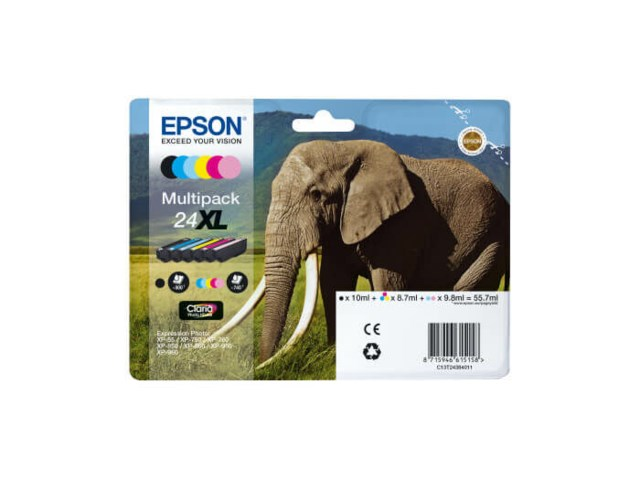 Epson Mustepatruuna 24XL Claria Photo HD multipack