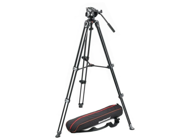Manfrotto Videojalusta MTV502AM + MVH500AH + laukku