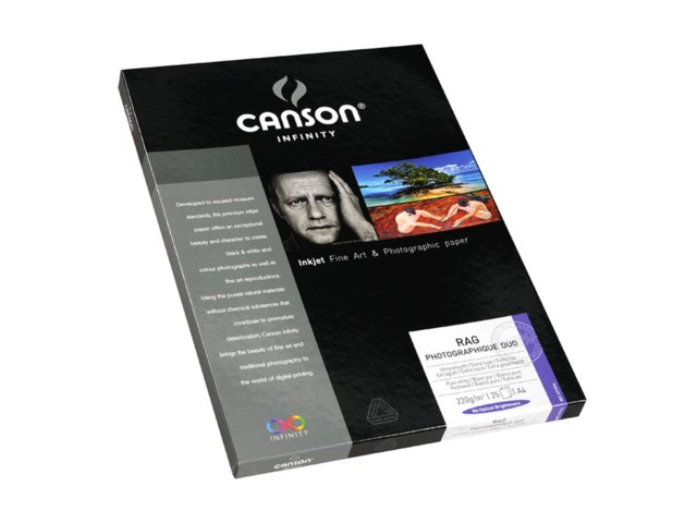 Canson Valokuvapaperi  A4 Rag Photographique Duo 220 gr