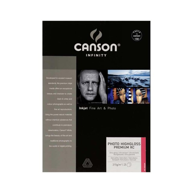 Canson A3+ Photo Highgloss Premium RC 315 gr 25 arkkia
