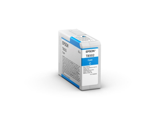 Epson Mustepatruuna Ultrachrome HD cyan 80 ml T8502