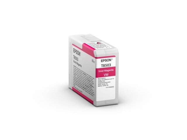 Epson Mustepatruuna Ultrachrome HD vivid magenta 80 ml T8502