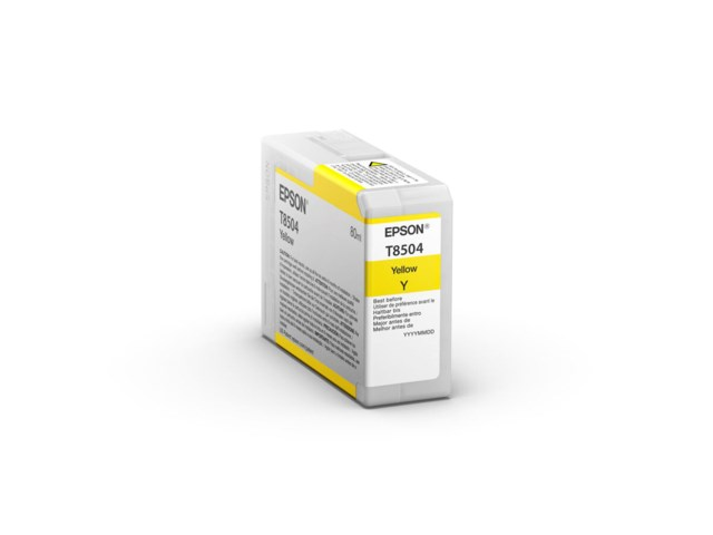 Epson Mustepatruuna Ultrachrome HD keltainen 80 ml T8504