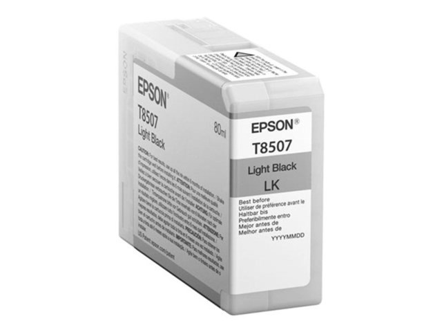 Epson Mustepatruuna Ultrachrome HD vaalea musta 80 ml