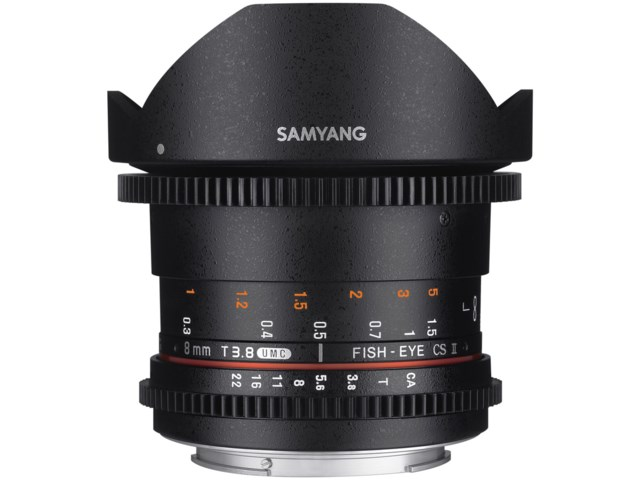 Samyang 8mm T3.8 VDSLR UMC Fisheye CS II / Sony A