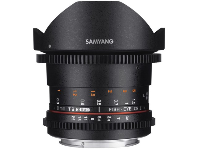 Samyang 8mm T3.8 VDSLR UMC Fisheye CS II / Sony E