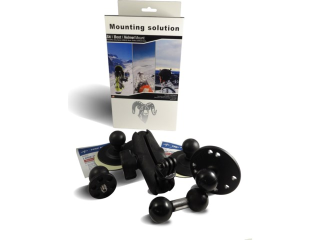 RAM Mounts Keskikoko Alpint - boot-Helmet-Ski RAM Mount kit -
