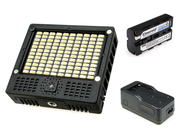 Cineroid LED-belysning L10-BC + laddare + batteri