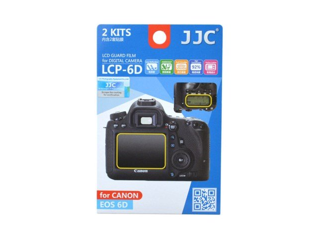JJC LCD-skydd LCP-6D till Canon EOS 6D 2-pack