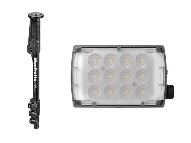 Manfrotto Spectra 2 led-valo + 4-osainen MM290A4