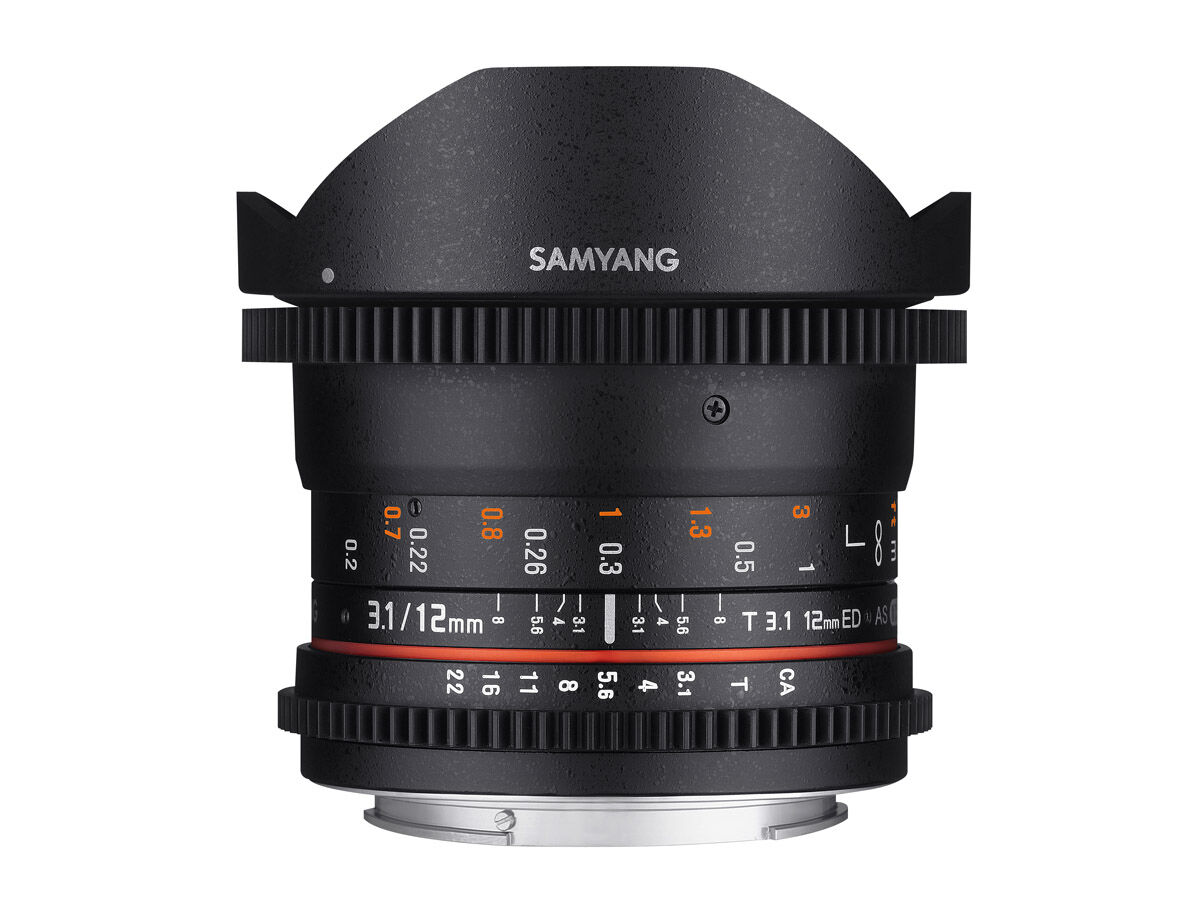 Samyang 12mm T3.1 VDSLR ED AS NCS Fisheye Micro 4/3