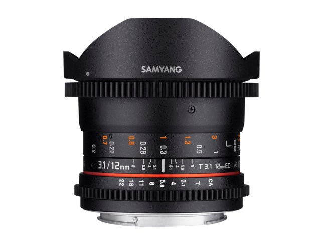 Samyang 12mm T3.1 VDSLR ED AS NCS Fisheye Sony A
