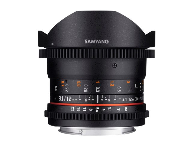 Samyang 12mm T3.1 VDSLR ED AS NCS Fisheye Sony FE