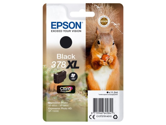 Epson Mustepatruuna 378 XL Claria Photo HD musta 11,2 ml