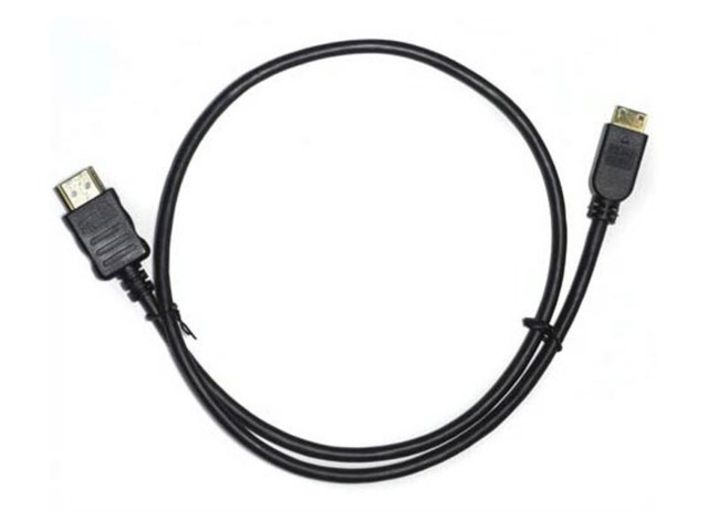 Small HD HDMI-kabel A hane – mini C hane 60 cm extra tunn