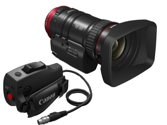 Canon CN-E18-80mm T4,4L IS KAS S, EF-mount + Servo grip