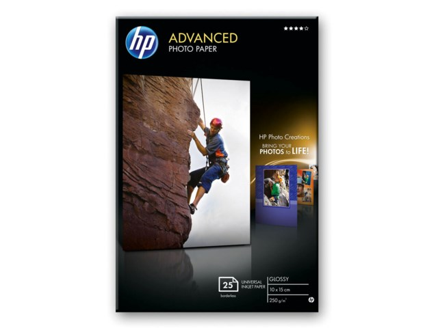 Hp Advanced Glossy 10x15cm 250gr 25arkkia