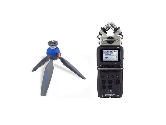 Zoom Handy Recorder H5 + bordsstativ Pixi