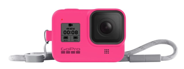 GoPro Sleeve + Lanyard Electric Pink