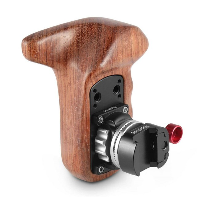 SmallRig Left Side 2118 Wooden Grip With Nato Mount
