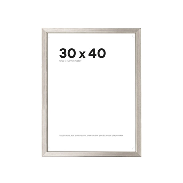 Scandinavian Photo Fotoram 30x40 Slim Silver