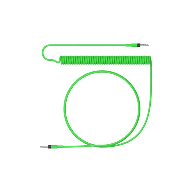 Teenage Engineering Audio cable reg curly long neon green