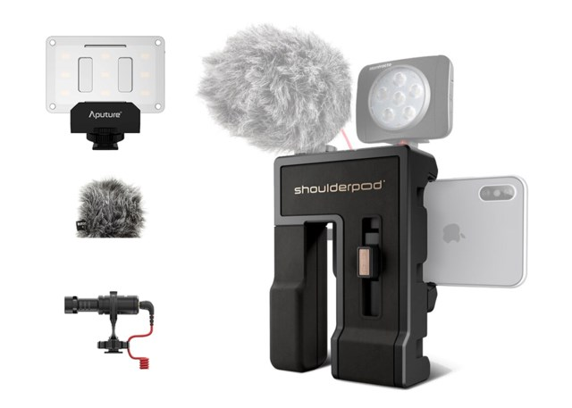Scandinavian Photo Mobile vlog kit Compact streaming, Shoulderpod