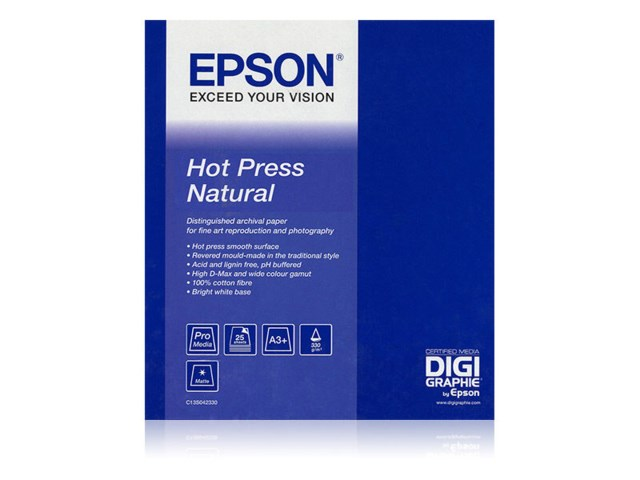 "Epson Rulla Hot Press Natural 17"" x 12,5m"