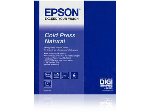 "Epson Rulla Cold Press Natural 17"" x 12,5 metriä"