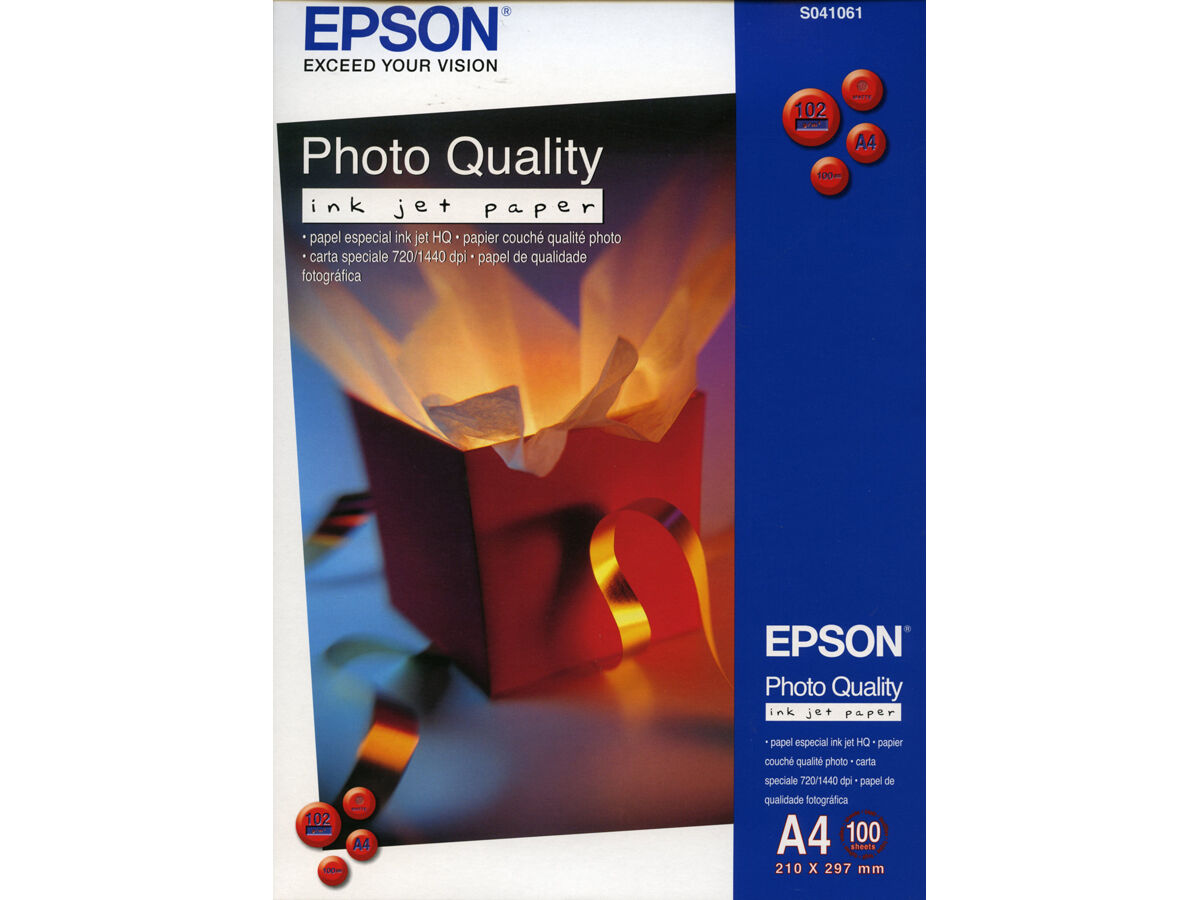 Epson Photo Quality Inkjet Paper A4 102gr 100blad