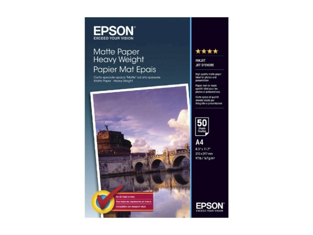 Epson A4 Double Sided Matte Paper 178gr 50 arkkia