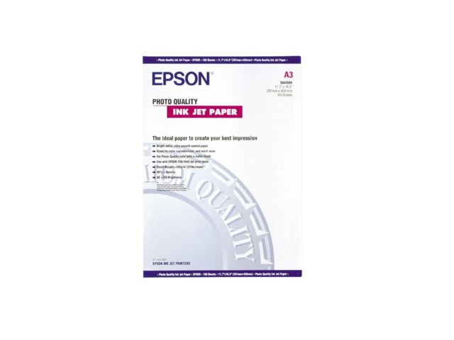 Epson A3 photo quality paper 100sivua