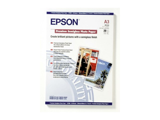 Epson A3 Premium Semigloss Photo Paper 20 sivua