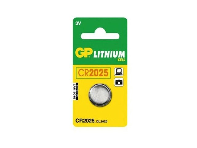 GP Paristo Cr 2025 3V Litium DL2025/KCR2025
